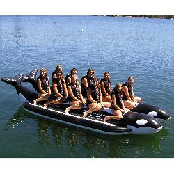 Island Hopper Whale Ride Commercial Banana Boat 10 Passenger Side-By-Side Towable Tube