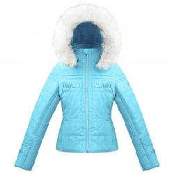 Poivre Blanc Smocked Ski Jacket with Faux Fur (Girls')