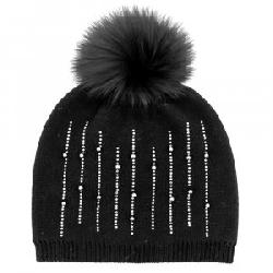 Peter Glenn Diamonds and Pearls Hat with Fox Pom (Women's)
