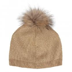 Peter Glenn Glisten Reversible Hat with Fur Pom (Women's)