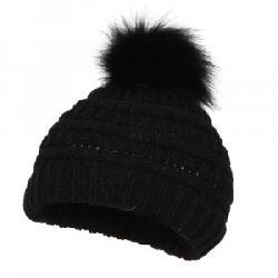 Peter Glenn Knit Hat with Fur Pom (Little Girls')