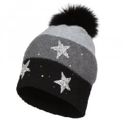Peter Glenn Color Block Star Hat with Pom (Women's)