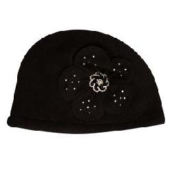 Elan Blanc Wool Cloche Jewel Flower Hat (Women's)
