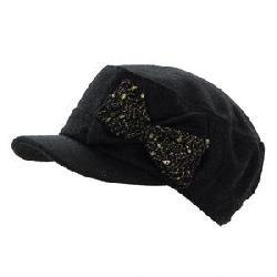 Elan Blanc Wool Cadet Bow Hat (Women's)