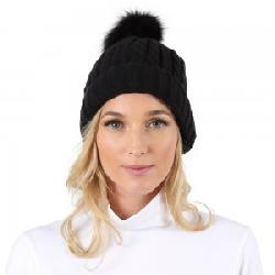 Peter Glenn Cable Hat with Pom (Women's)