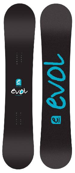 Evol Logo Snowboard