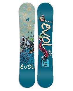 Evol White Wave Snowboard