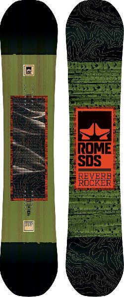 Rome Reverb Rocker Midwide Snowboard