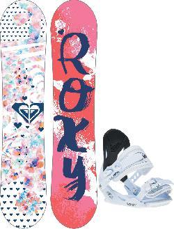 Roxy Poppy Snowboard w/ Poppy Traditional Bindings